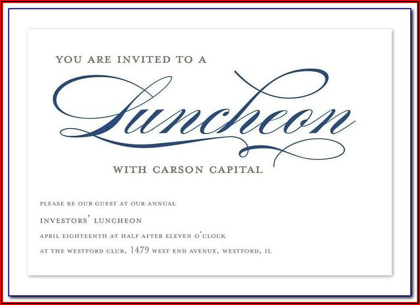 Lunch Invitation Email Template