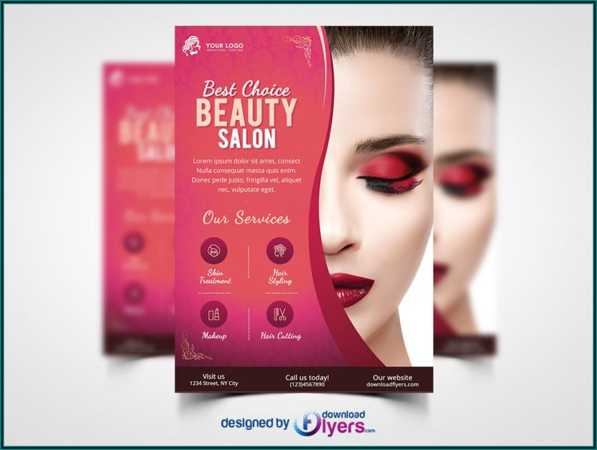 Makeup Artist Brochure Template Free