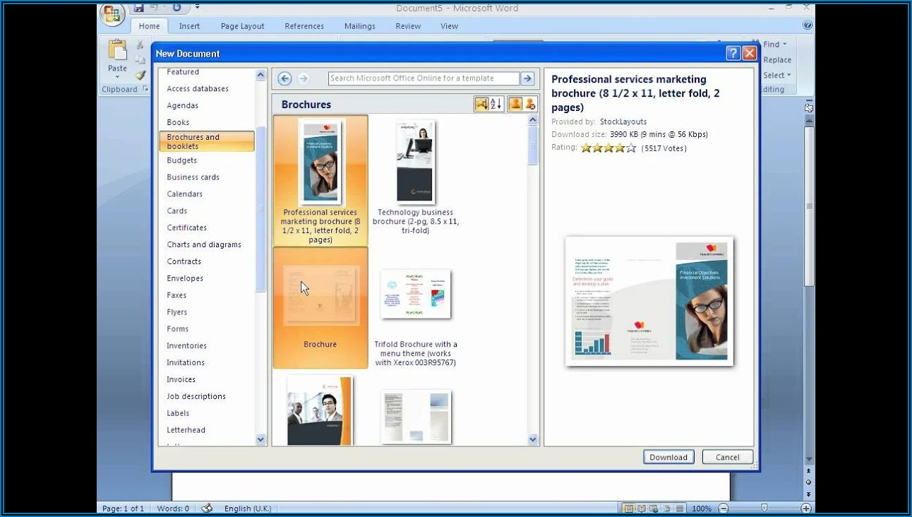 Making A Trifold Brochure In Word 2010