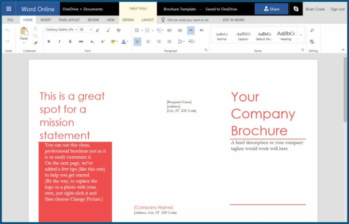 Making A Trifold Pamphlet In Word