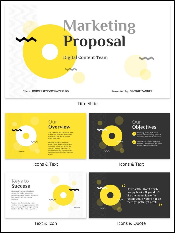 Marketing Plan Presentation Template Ppt