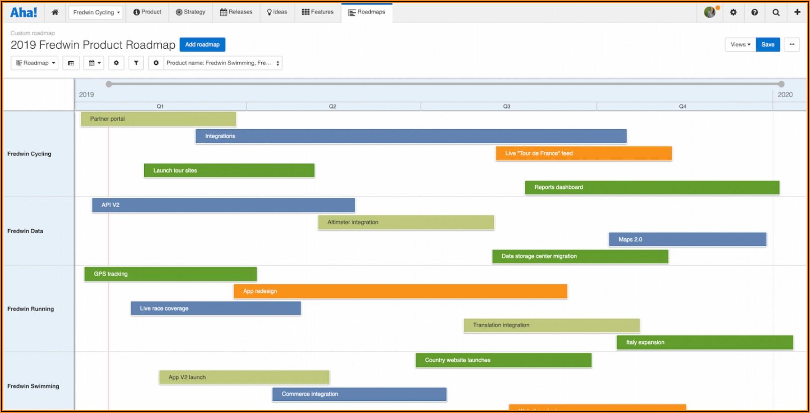 Marketing Roadmap Template Excel
