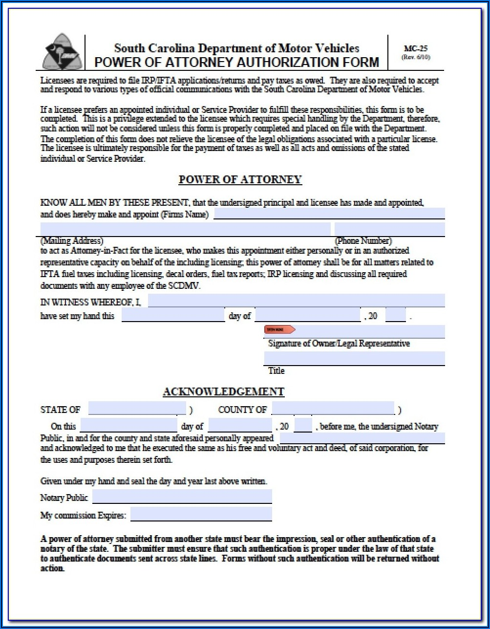 Maryland Power Of Attorney Form 2848