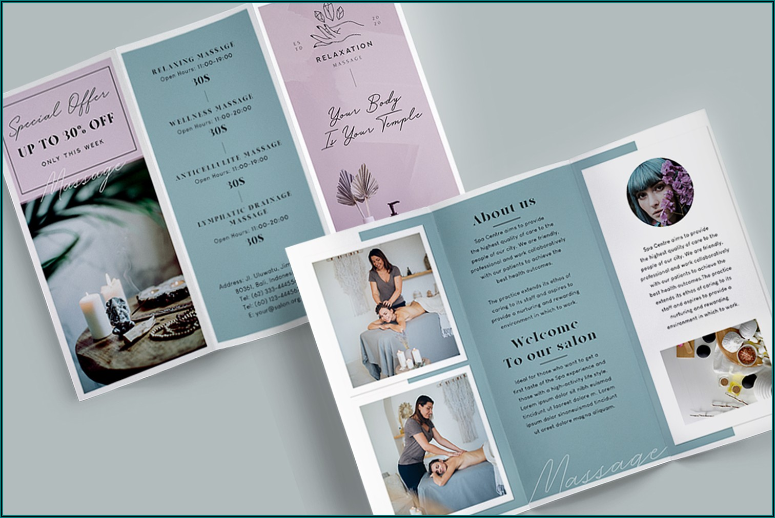 Massage Brochure Template Free