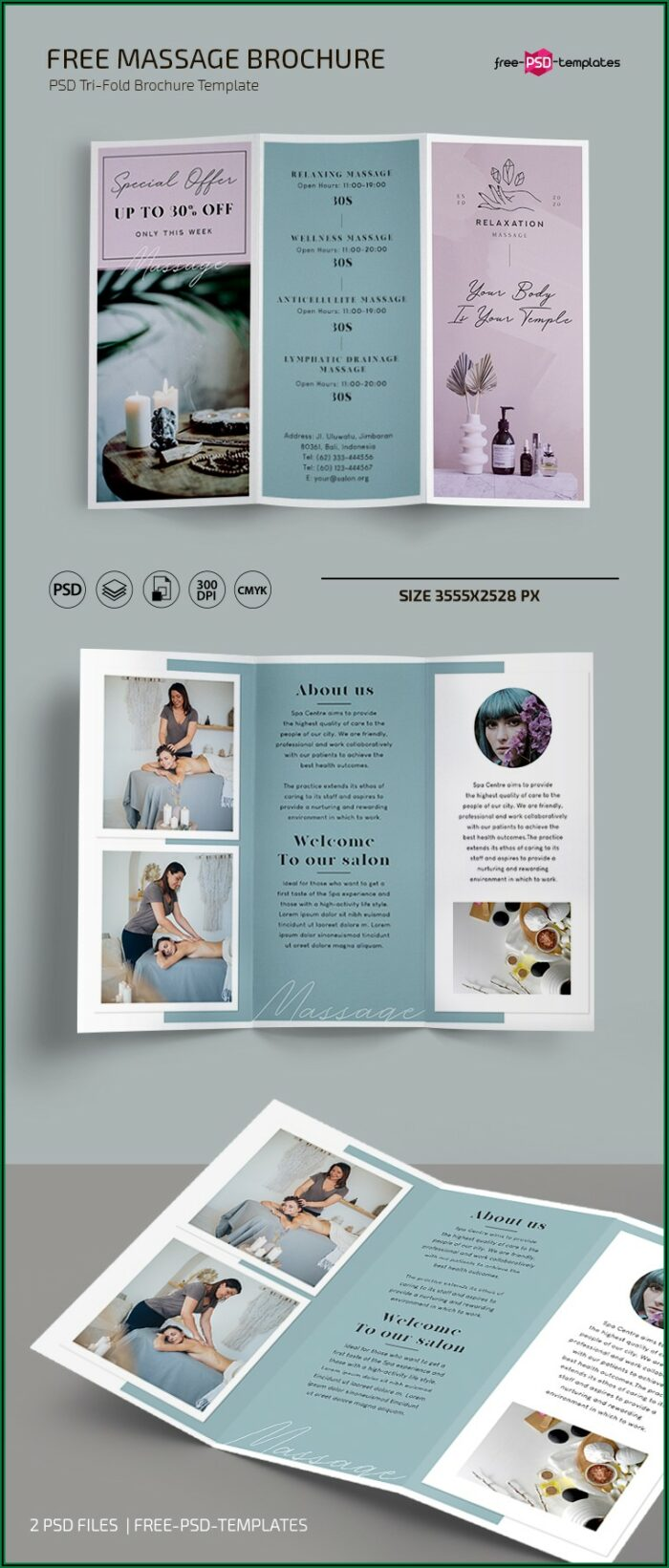 Massage Brochure Templates Free