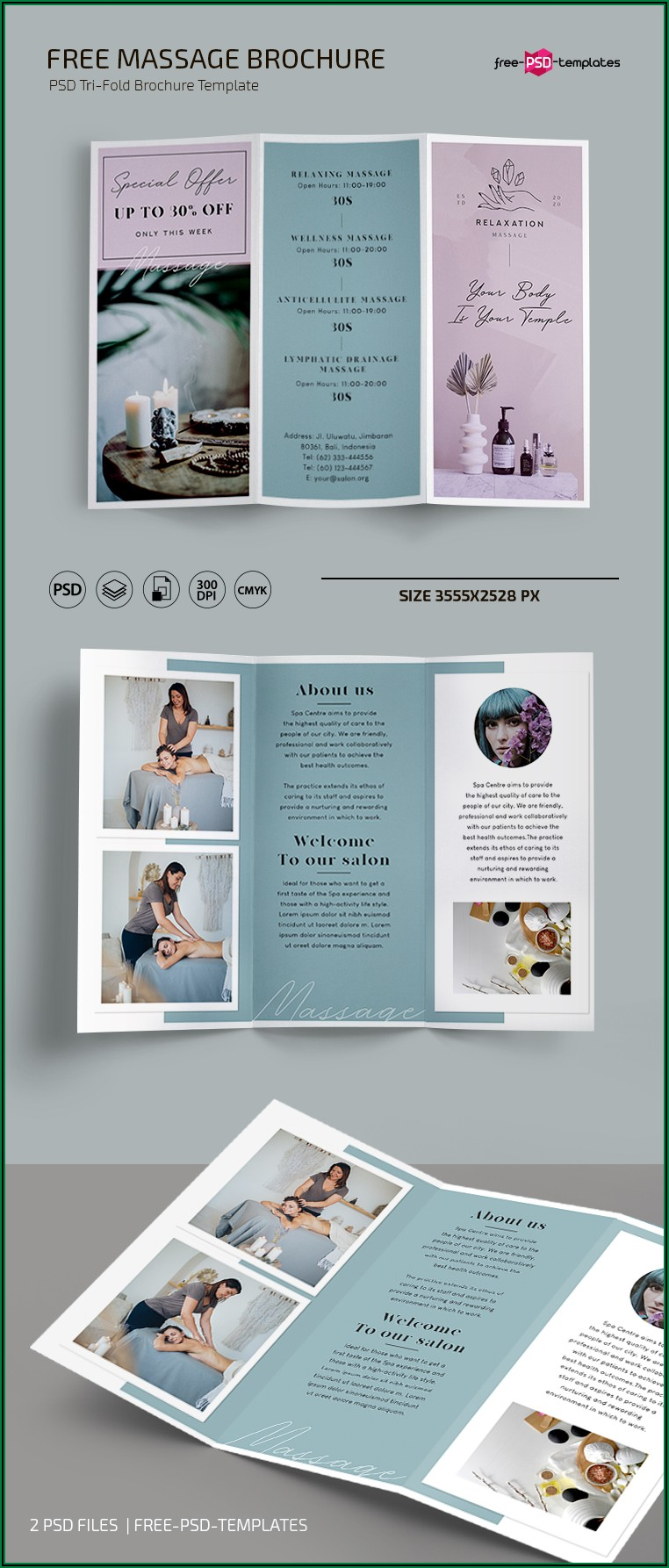 Massage Brochure Templates Free