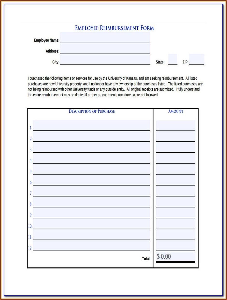 Medicaid Mileage Reimbursement Form