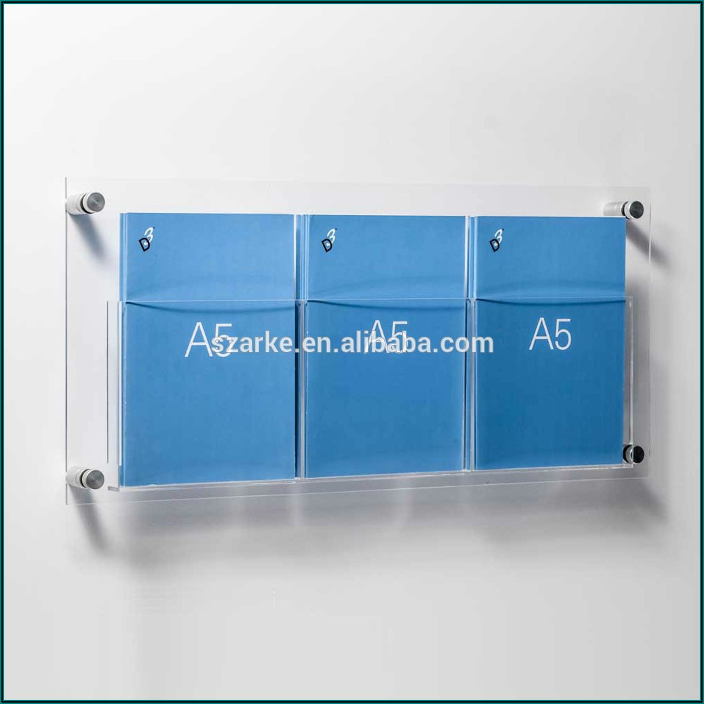 Metal Brochure Holder Wall Mount