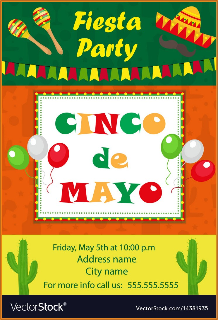Mexican Themed Party Invitation Template