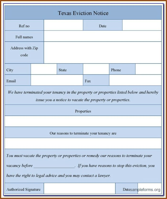 Mi Eviction Notice Form