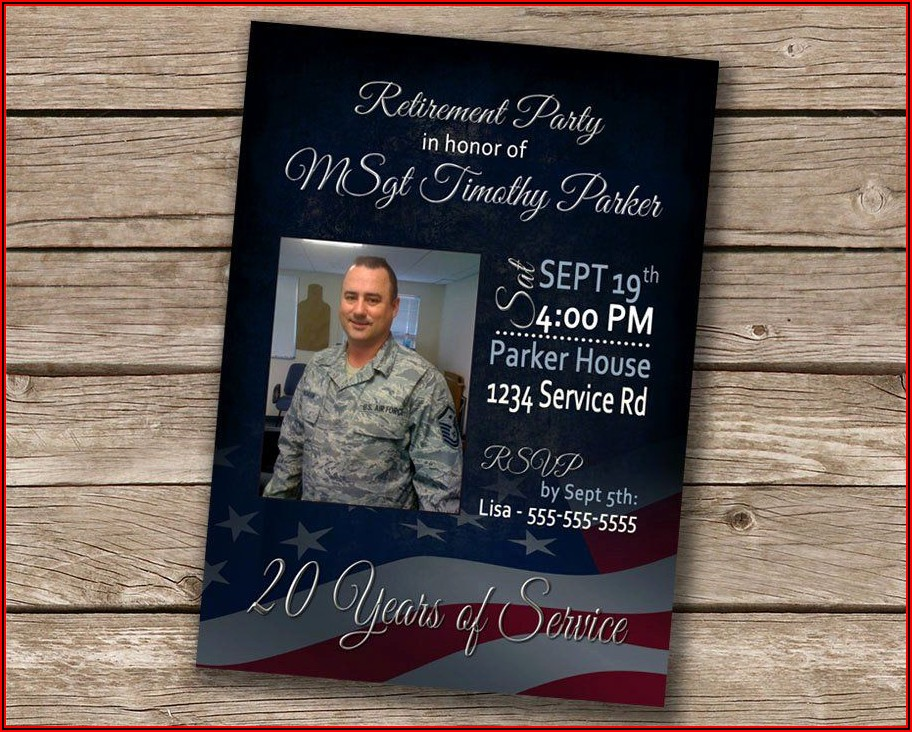 Military Retirement Party Invitations Template