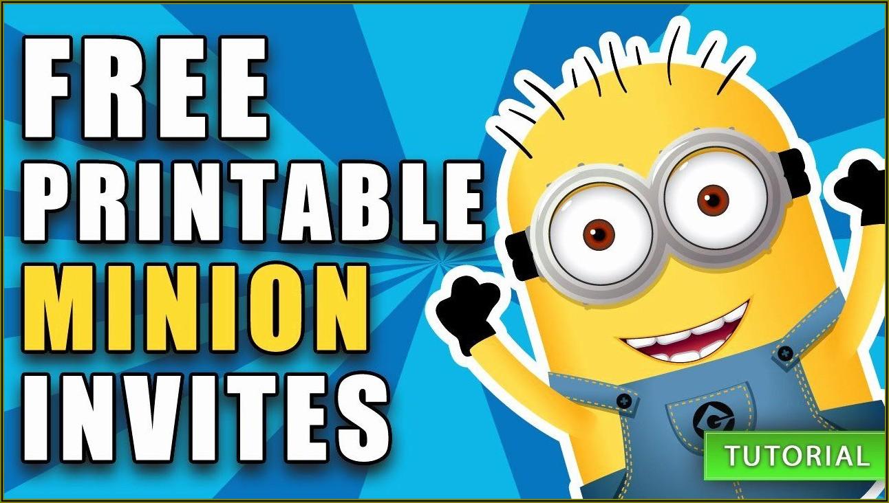 Minions Birthday Invitation Template Free