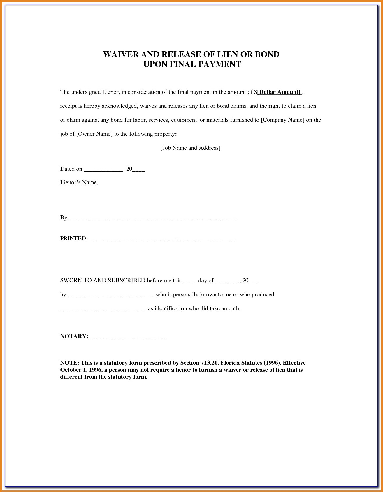 Montana Last Will And Testament Form