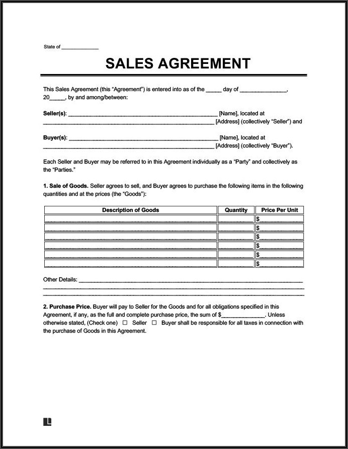 Motorcycle Purchase Agreement Sample