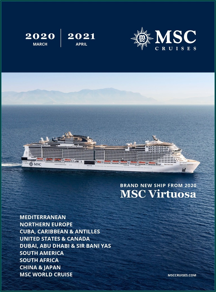 Msc Cruises Brochure 2020
