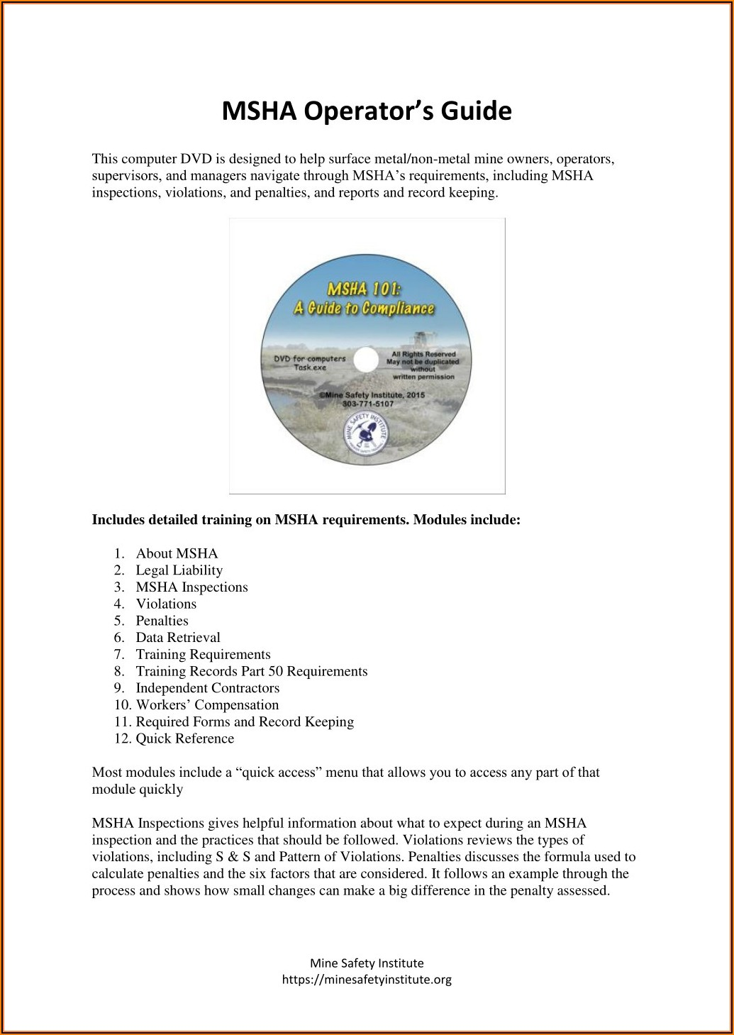 Msha Equipment Inspection Forms