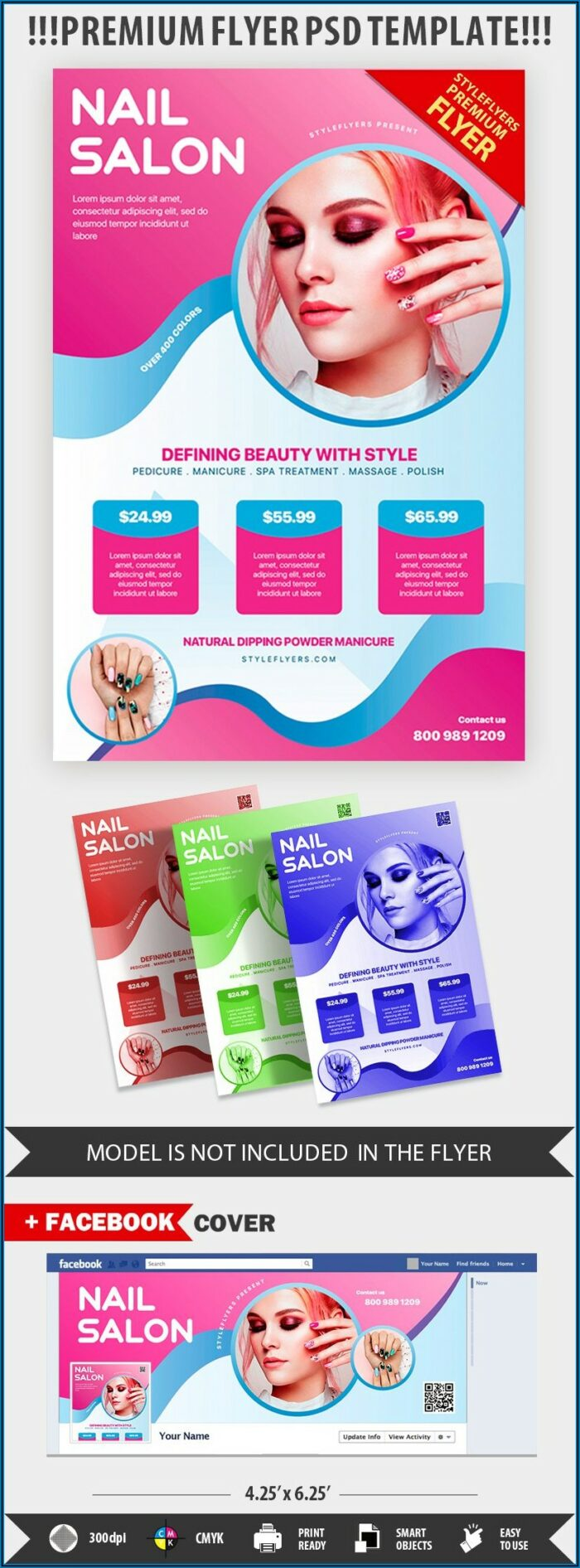 Nail Salon Flyer Templates Free