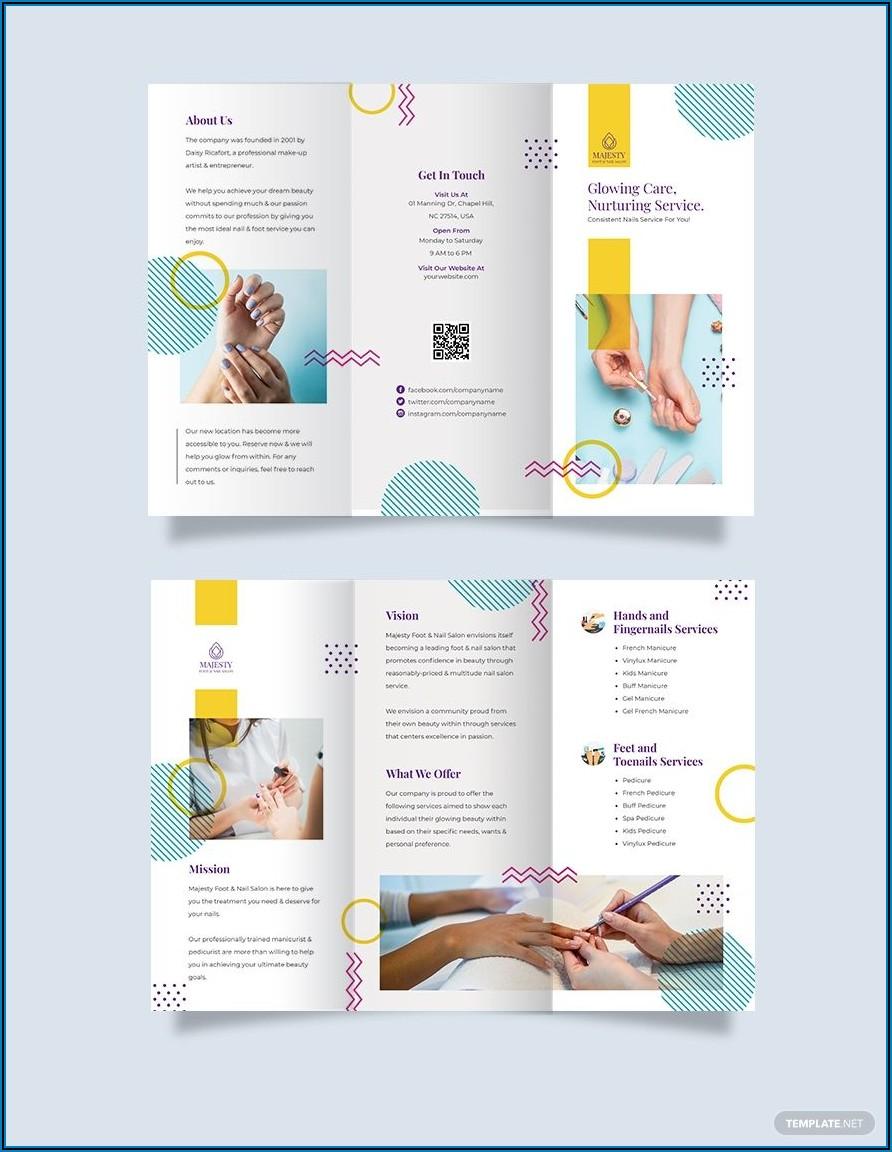 Nail Spa Brochure Template