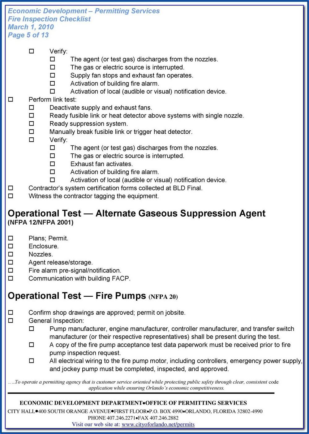 Nfpa Fire Pump Acceptance Test Form