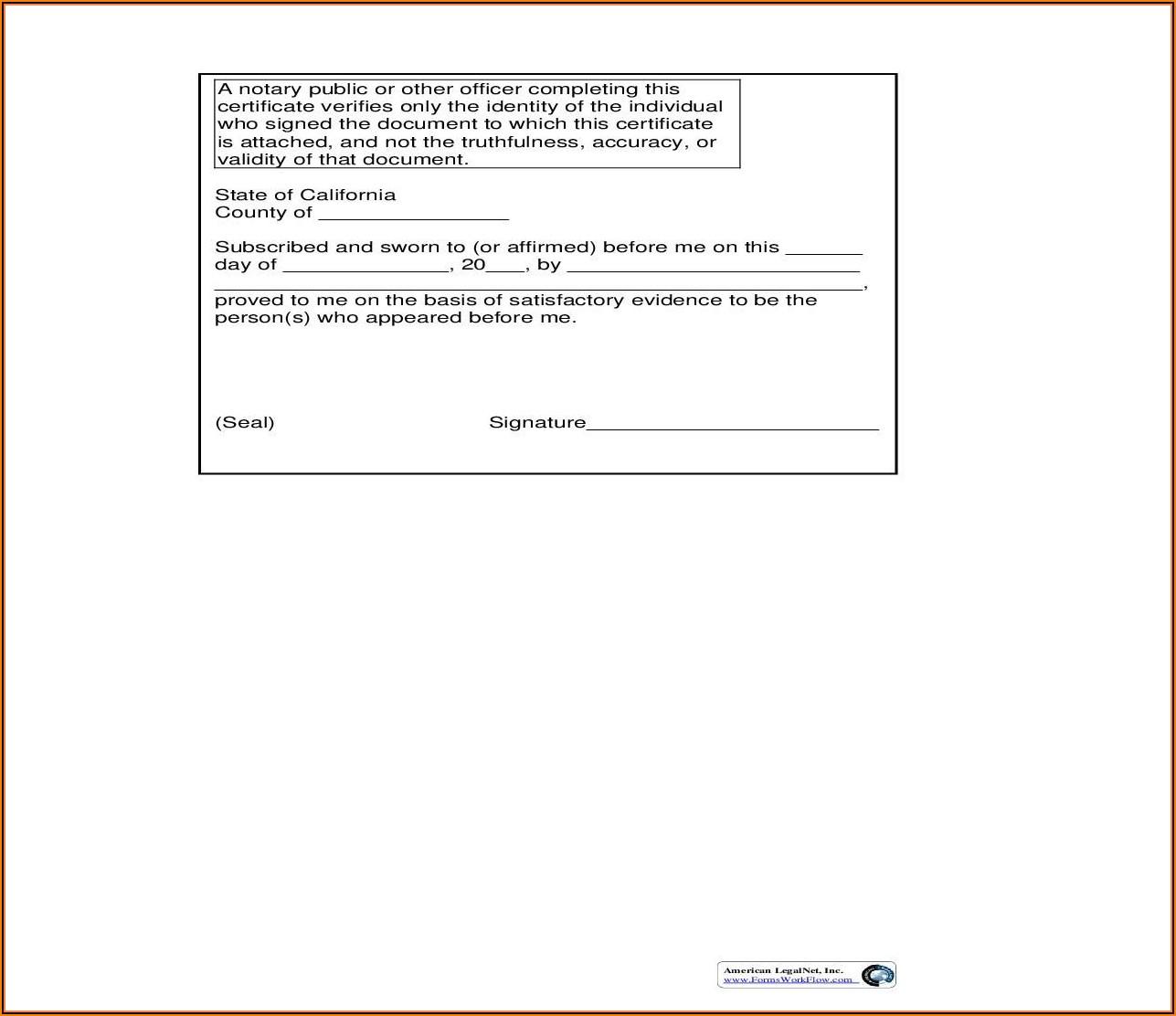 Notary Public Forms California