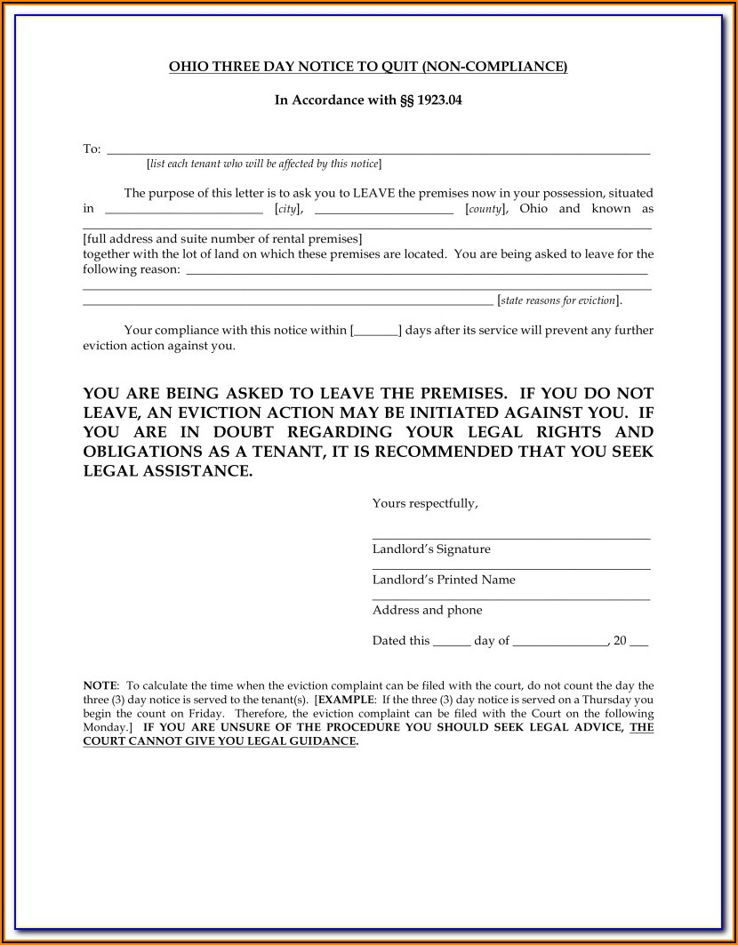 Notice To Vacate Forms Victoria