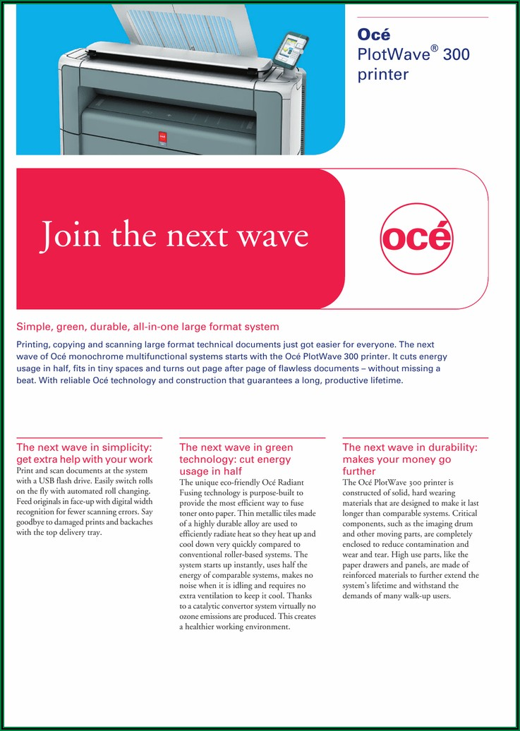 Oce Plotwave 340 Brochure