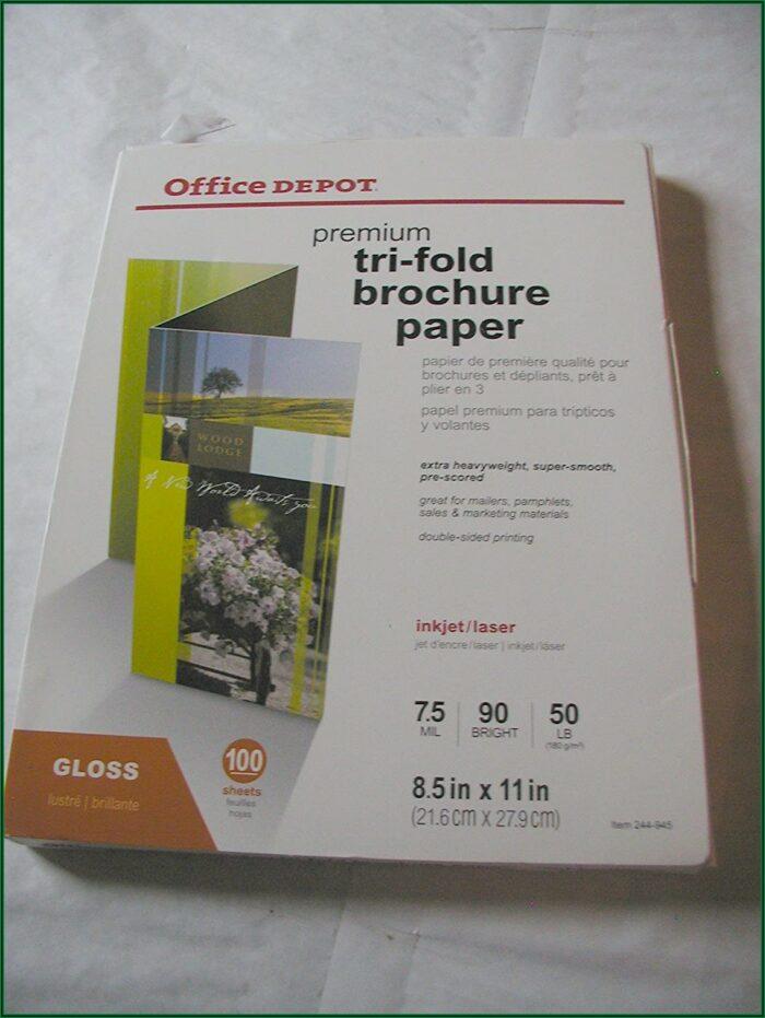 Office Depot Tri Fold Brochure Paper