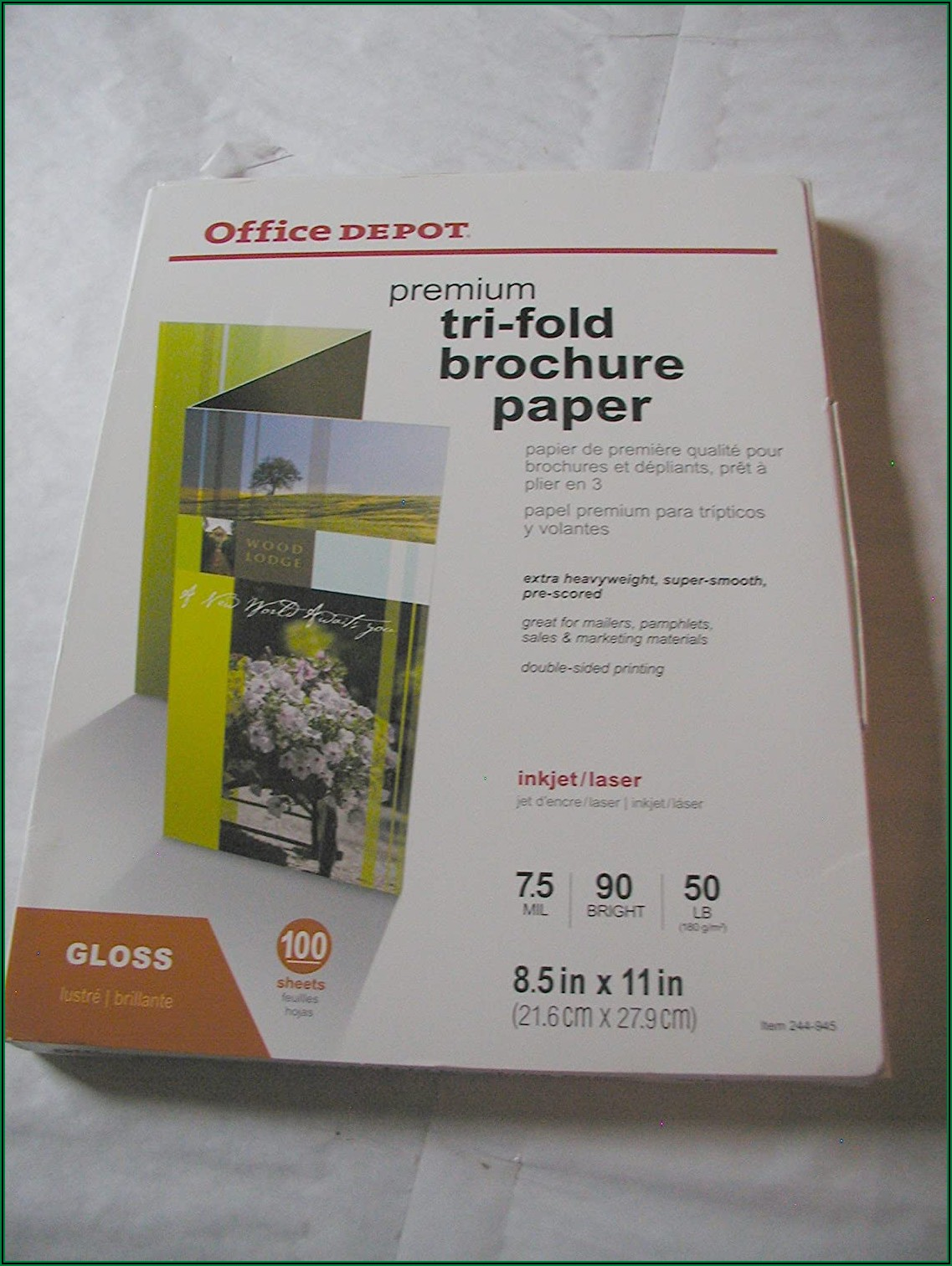 Office Depot Tri Fold Brochure Paper