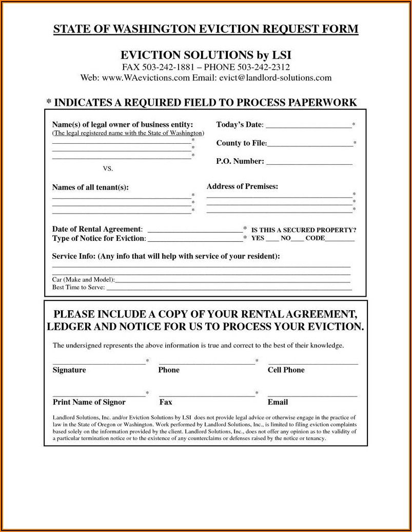 Oregon 72 Hour Eviction Notice Form Free