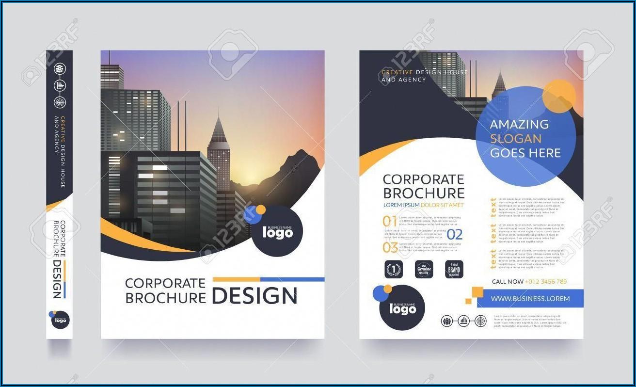 Pamphlet Background Vector Design