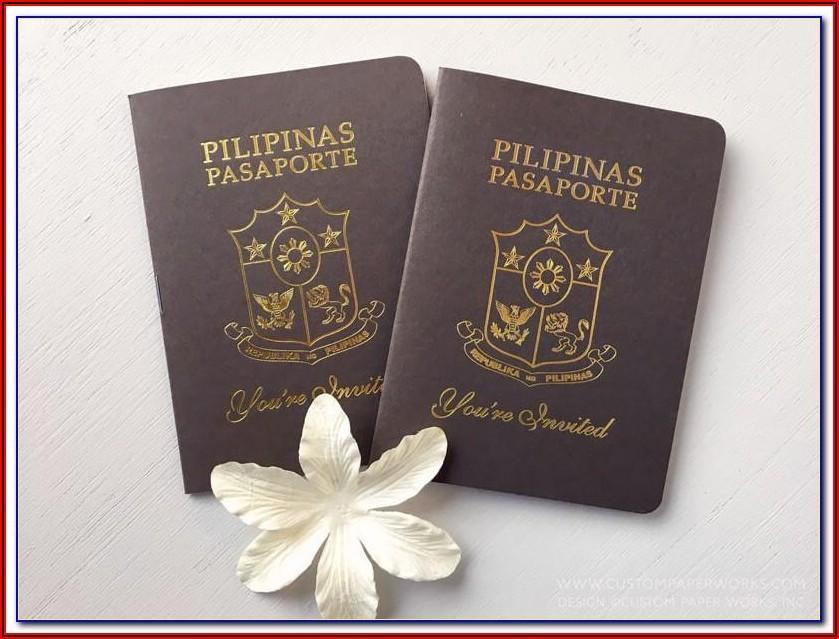 Passport Wedding Invite Template