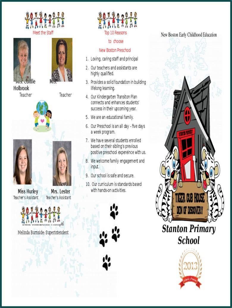 Preschool Brochure Template Free Download
