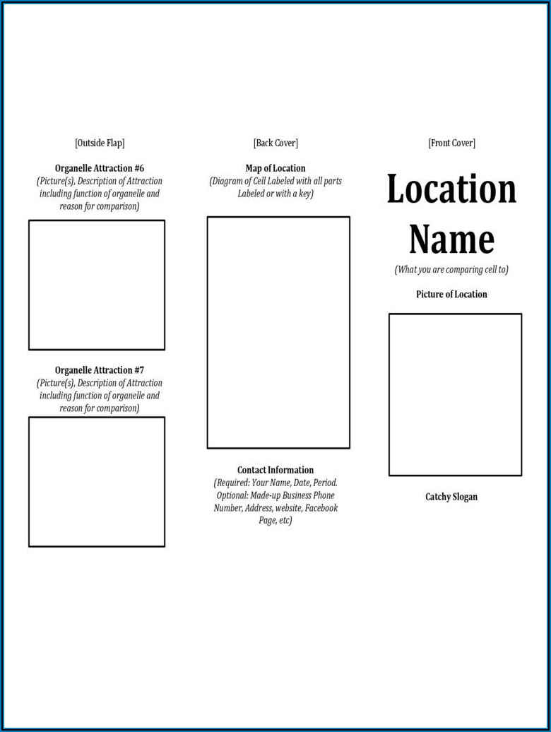 Printable Brochure Template For Students