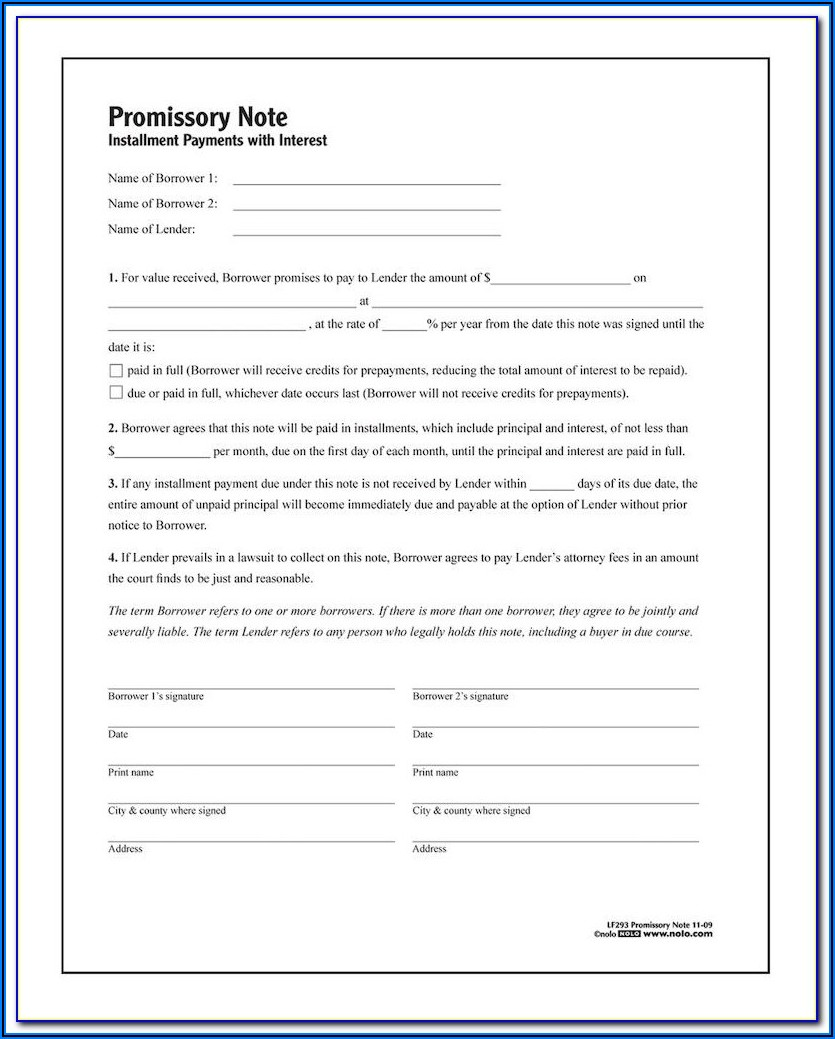 Promissory Note Sample Form Philippines