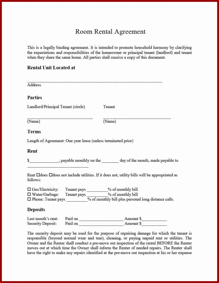 Property Lease Agreement Template South Africa Word Document