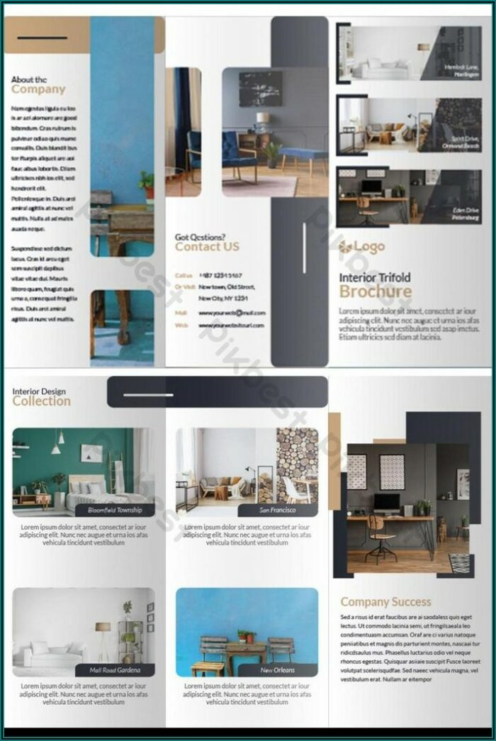 Real Estate Brochure Template Free Download Ai
