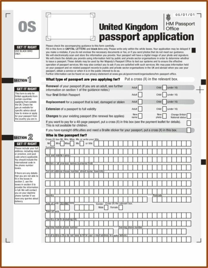 Renew Passport Forms Uk