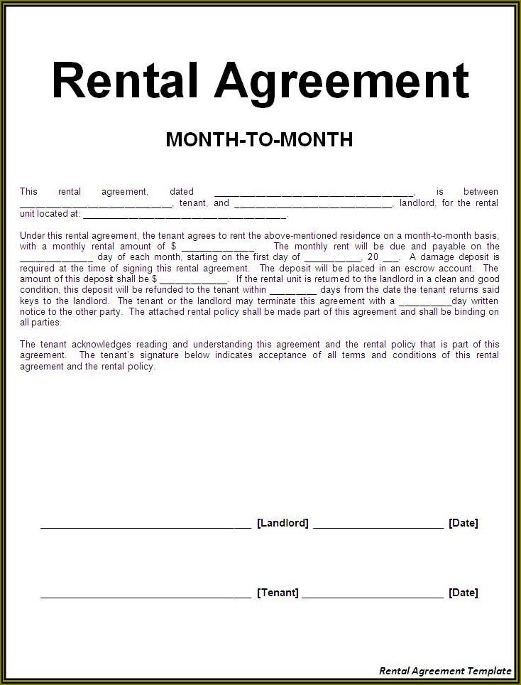 Rental Agreement Template Uk Pdf