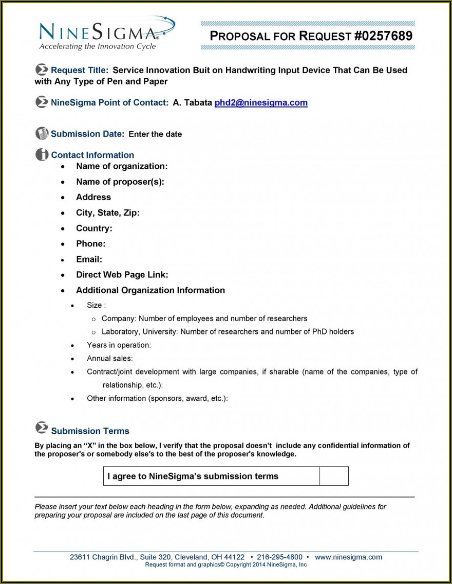 Request For Proposal Construction Rfp Template