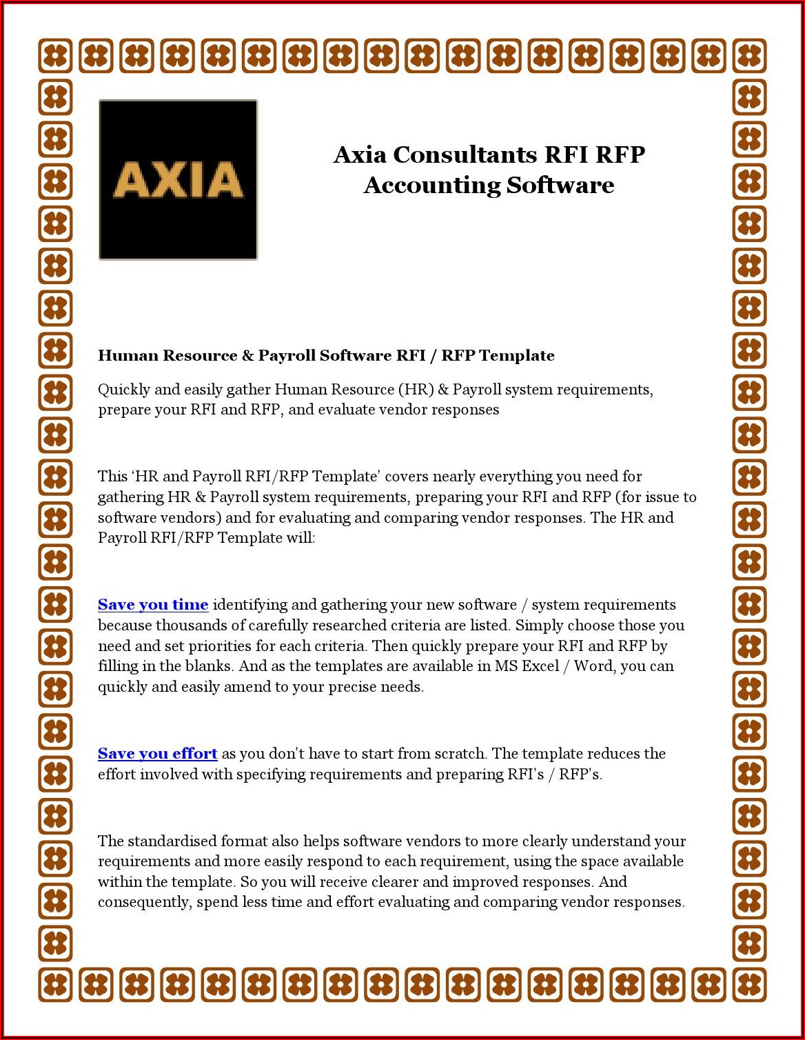 Rfp Template For Accounting Software