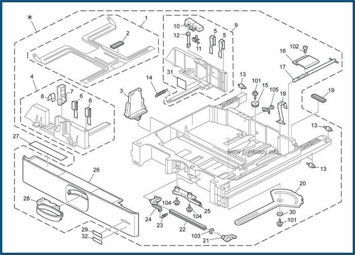 Ricoh Mp 3352 Parts Catalog