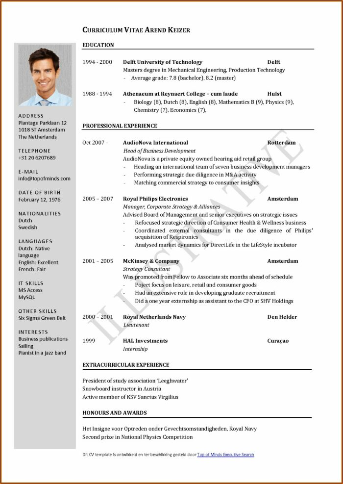Sample Job Application Forms Free Download