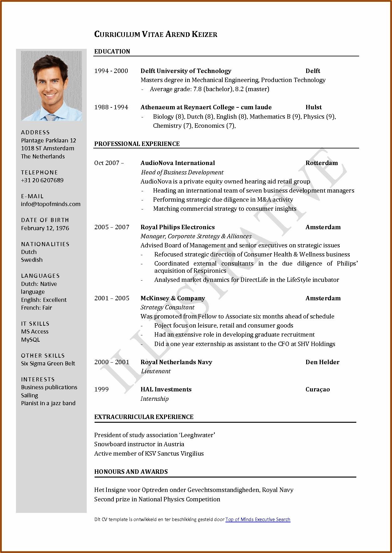 Sample Job Application Forms Free Download