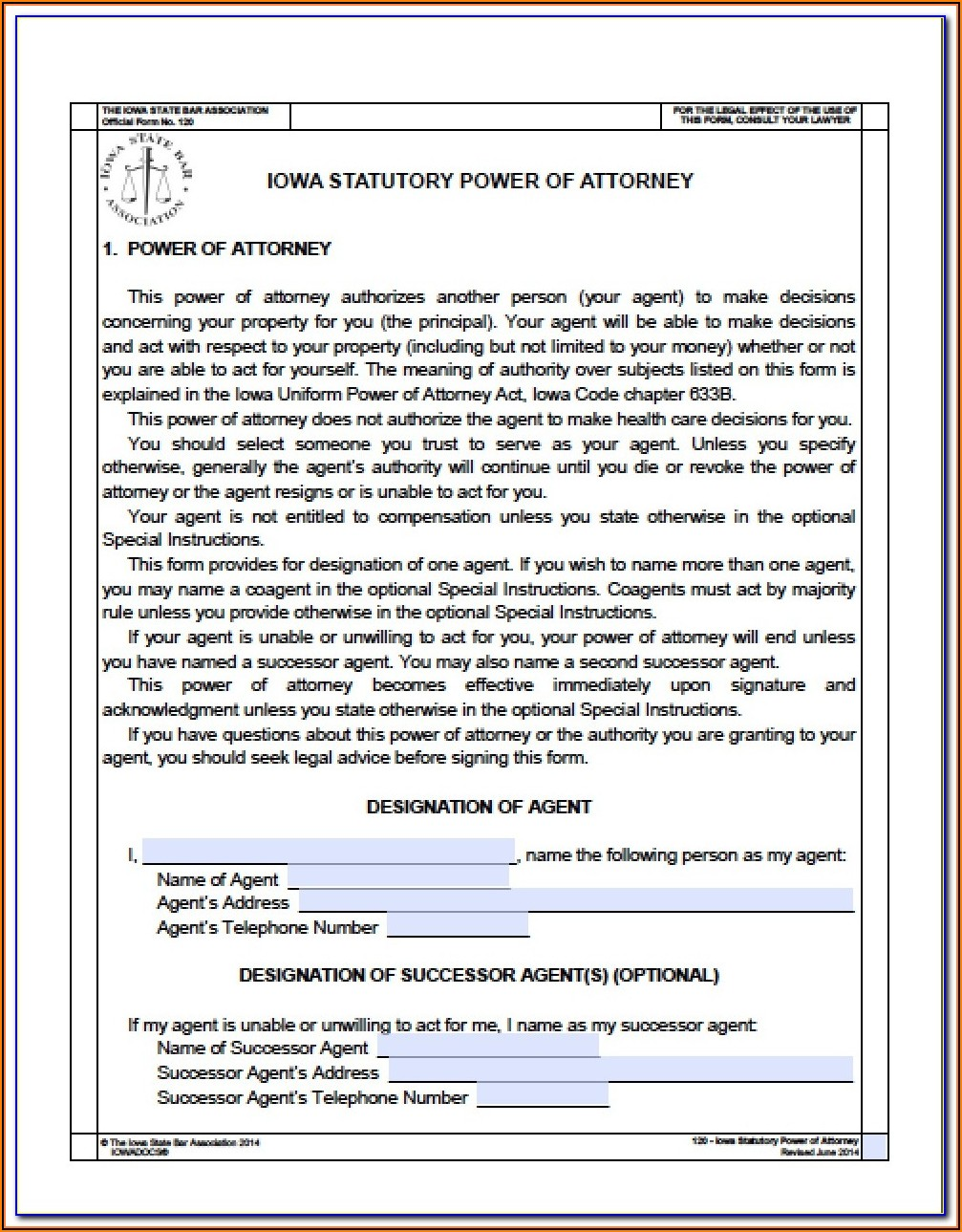 Sc Durable Power Of Attorney Form