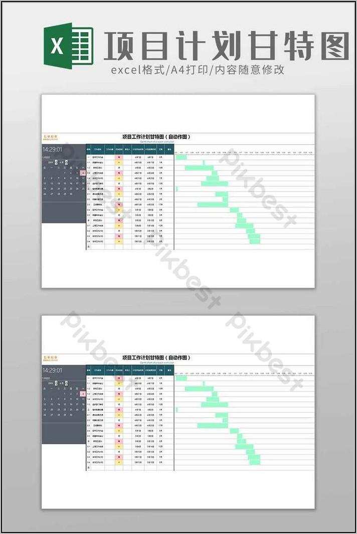 Simple Gantt Chart Template Xls