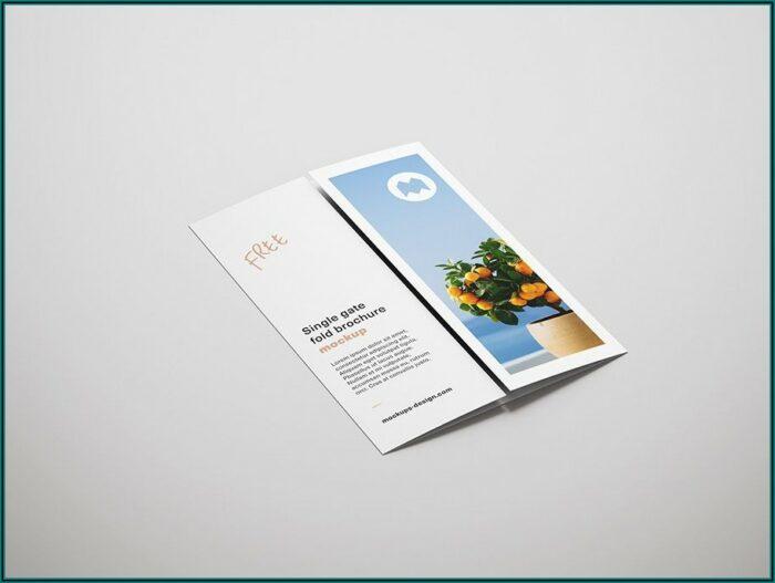 Single Fold Brochure Mockup
