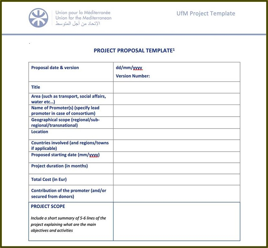 Software Project Proposal Template Word
