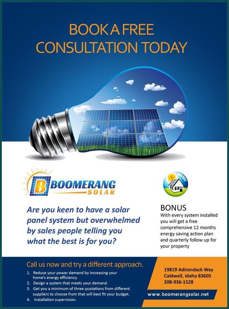 Solar Energy Brochure Template Free