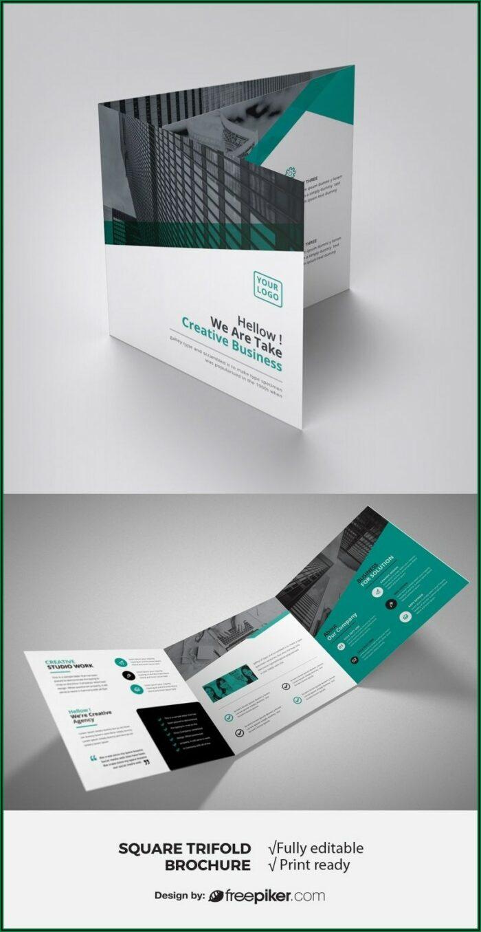 Square Tri Fold Brochure Printing