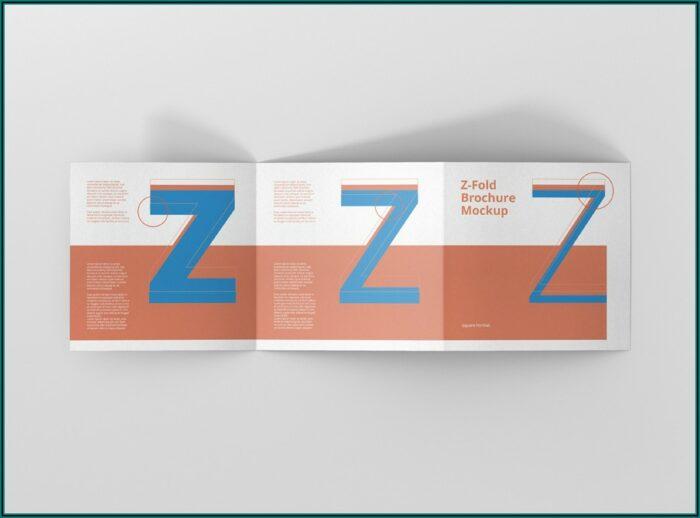 Square Z Fold Brochure Mockup Free